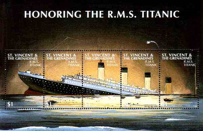 Titanic Briefmarke Block.